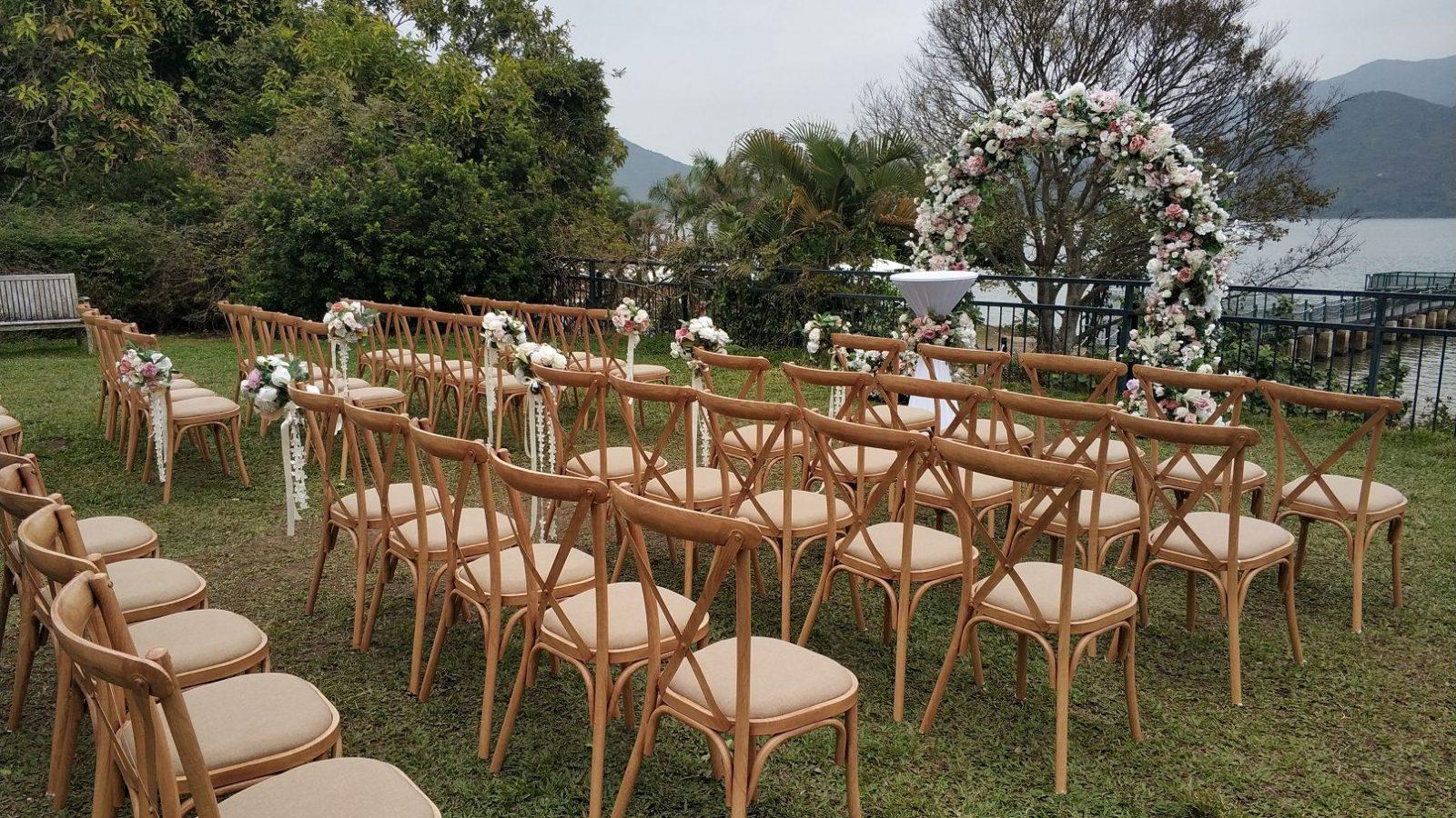 西貢131, 租用木椅, 戶外證婚椅, wood chairs